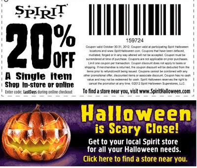 spirit halloween recently opened at kirkwood mall go here to print a coupon good for 20 off a single item in their store this coupon is good through
