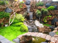 gambar pancuran air taman