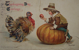 Image: Vintage Thanksgiving Day Postcard