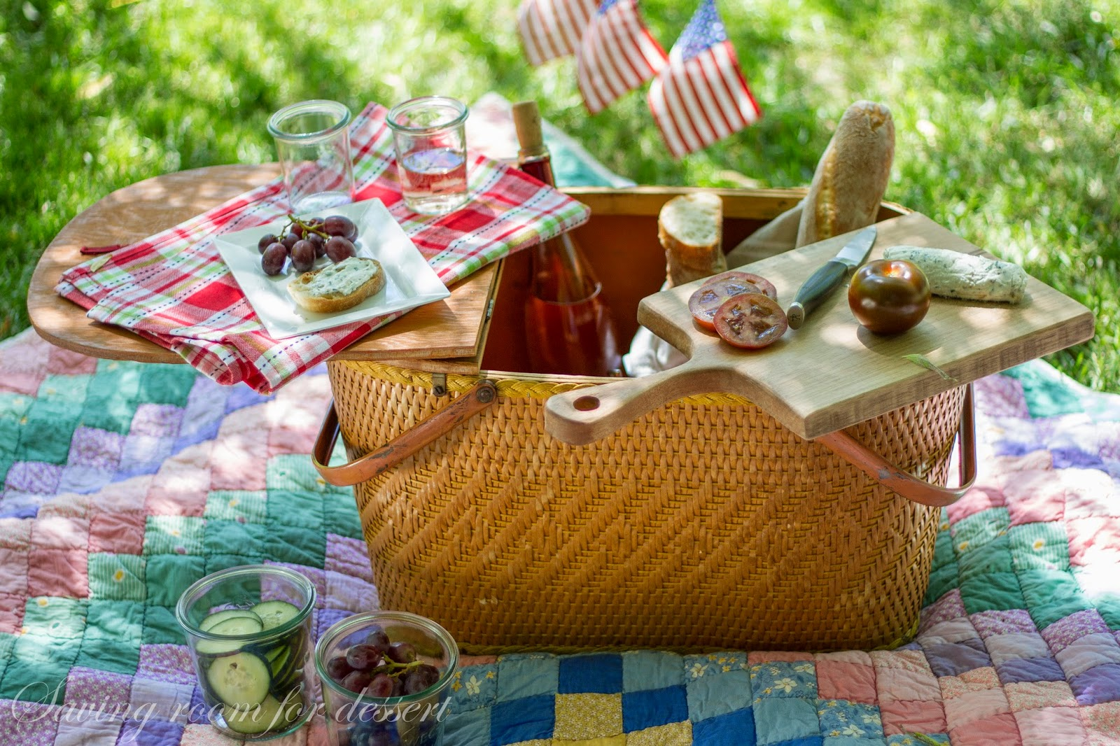 Herbed Goat Cheese Spread and a picnic for Memorial Day ...