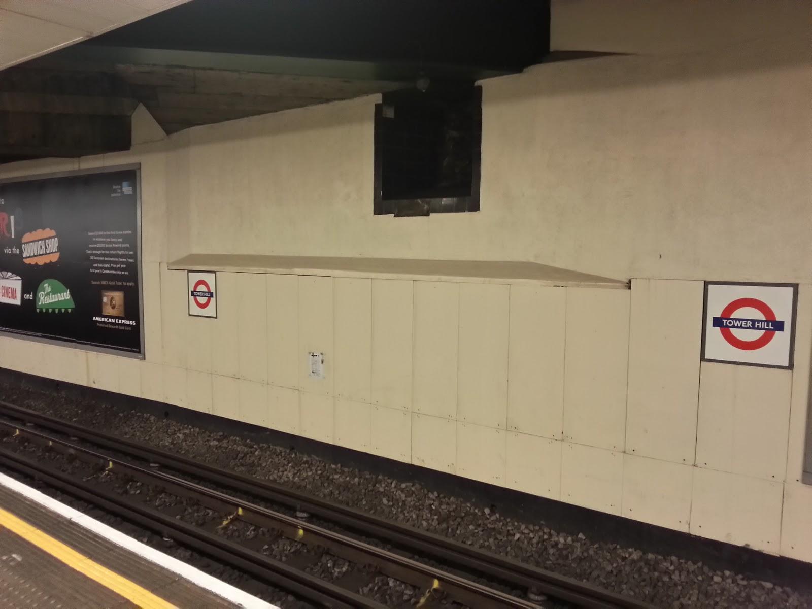 Roman Wall Platform 1, Tower Hill underground station