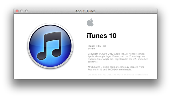 Apple iTunes 10.6