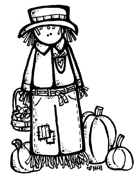 cute scarecrow clipart black