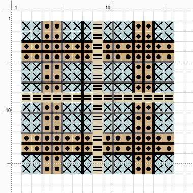 Free plaid square cross stitch pattern.  For personal use only. (c) Erin E. Turowski, 2012.
