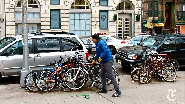 Ladrões de bicicleta não são presos em Nova York