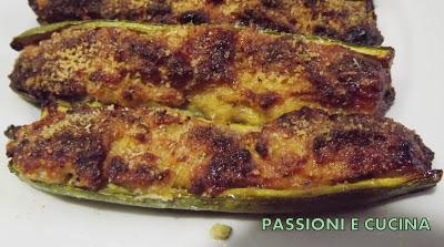 zucchine ripiene con gorgonzola