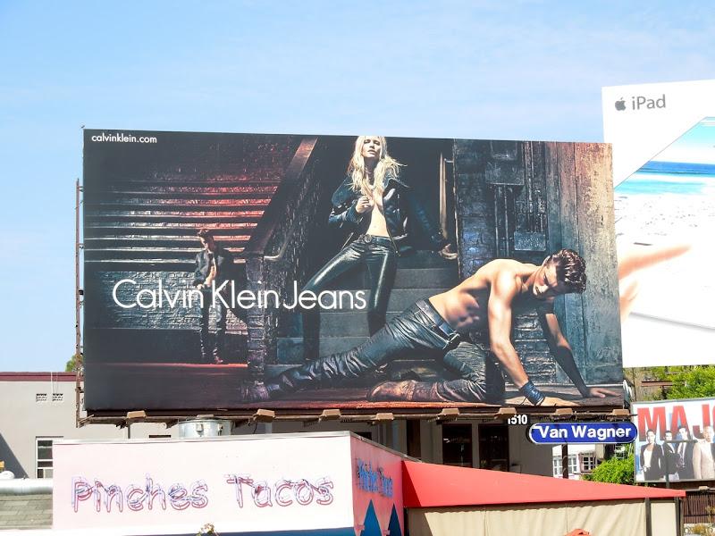 Calvin Klein FW 2012 Jeans Lara Stone billboard