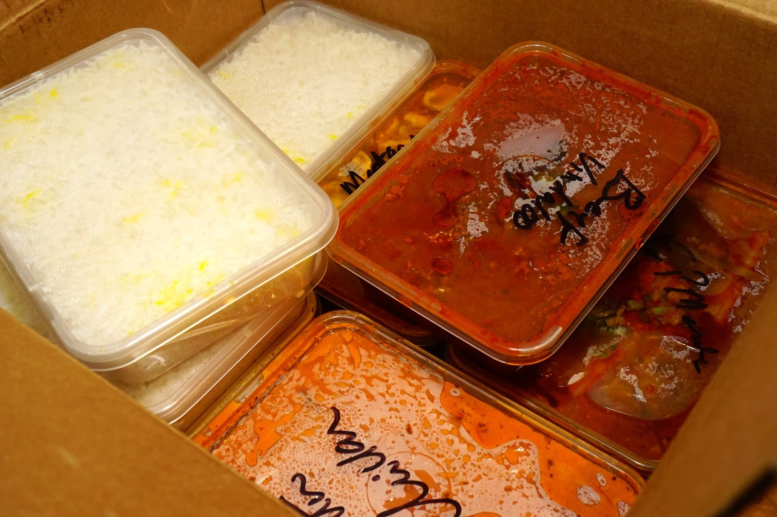 Takeaway food order - Legacy of India, Blackwood