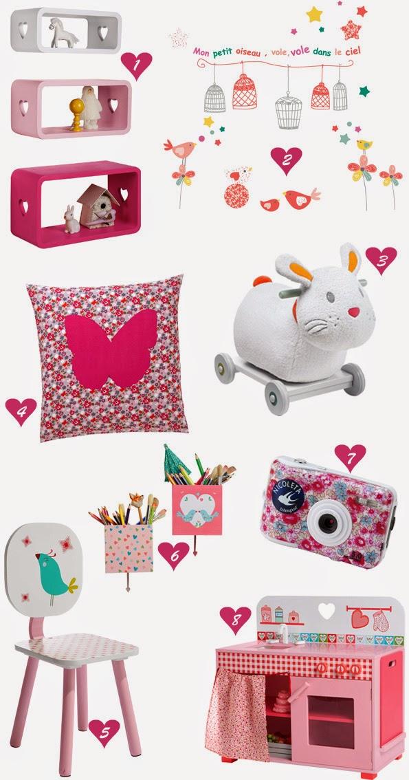 Sélection décoration/jouets soldes d'été 2014 chez vertbaudet
