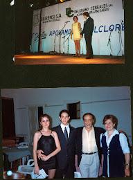 Arriba : Festival de Tango de Gral. Belgrano , abajo: con Alejandra Gutti y Juan Carlos Copes