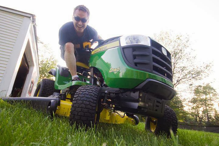 A brand new riding lawnmower