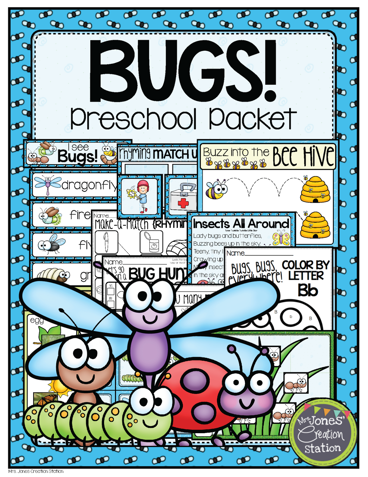 http://www.teacherspayteachers.com/Product/Bugs-Preschool-Pack-1200663