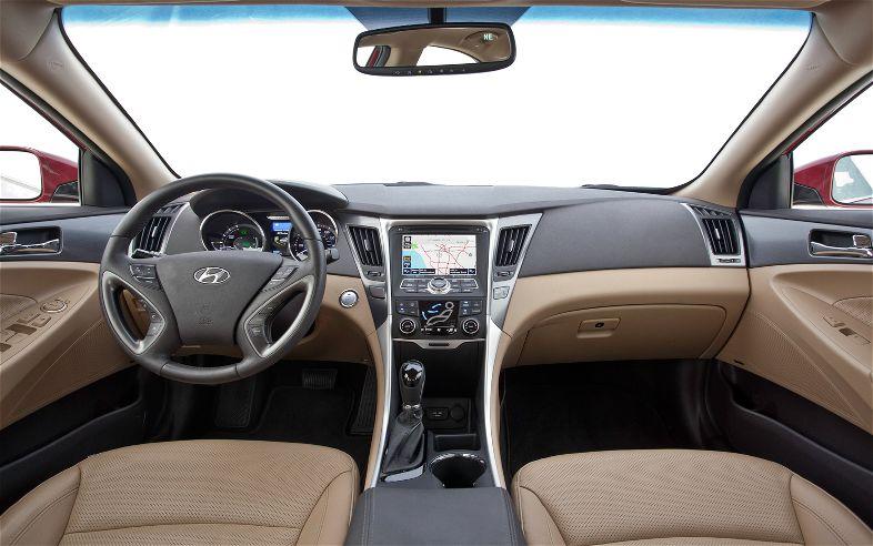 2012 Hyundai Sonata Hybrid Interior.