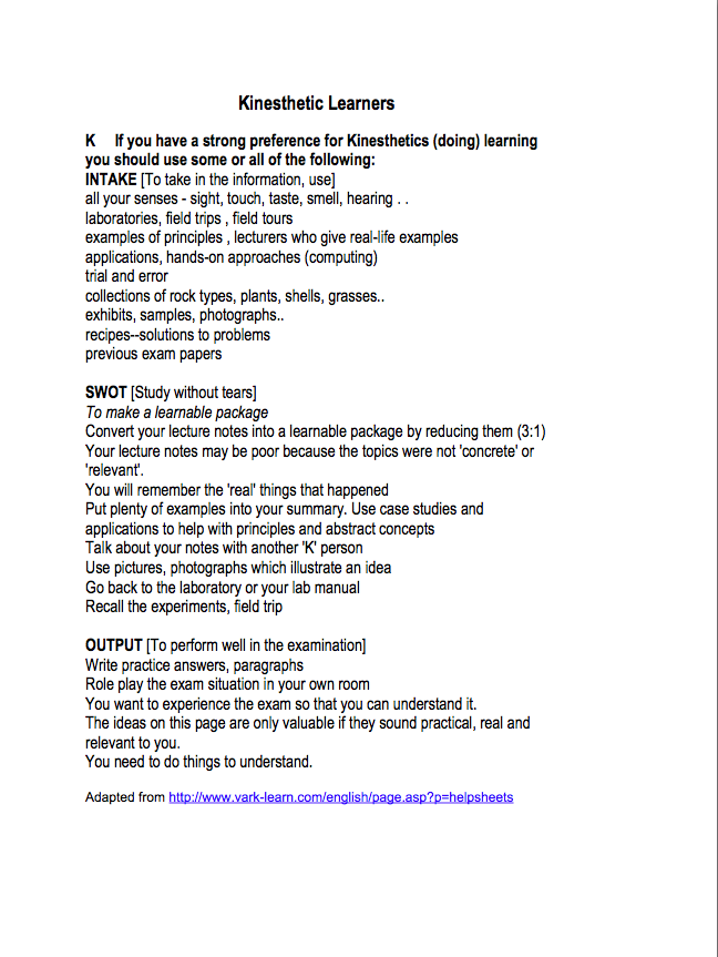 vak learning styles self assessment questionnaire Vak learning styles_questionnaire 1 vak test vak learning styles self-assessment questionnaire circle or tick the answer that most represents how you generally behave.
