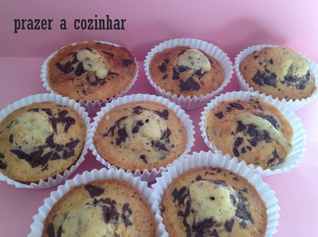 prazer a cozinhar - muffins com pepitas de chocolate