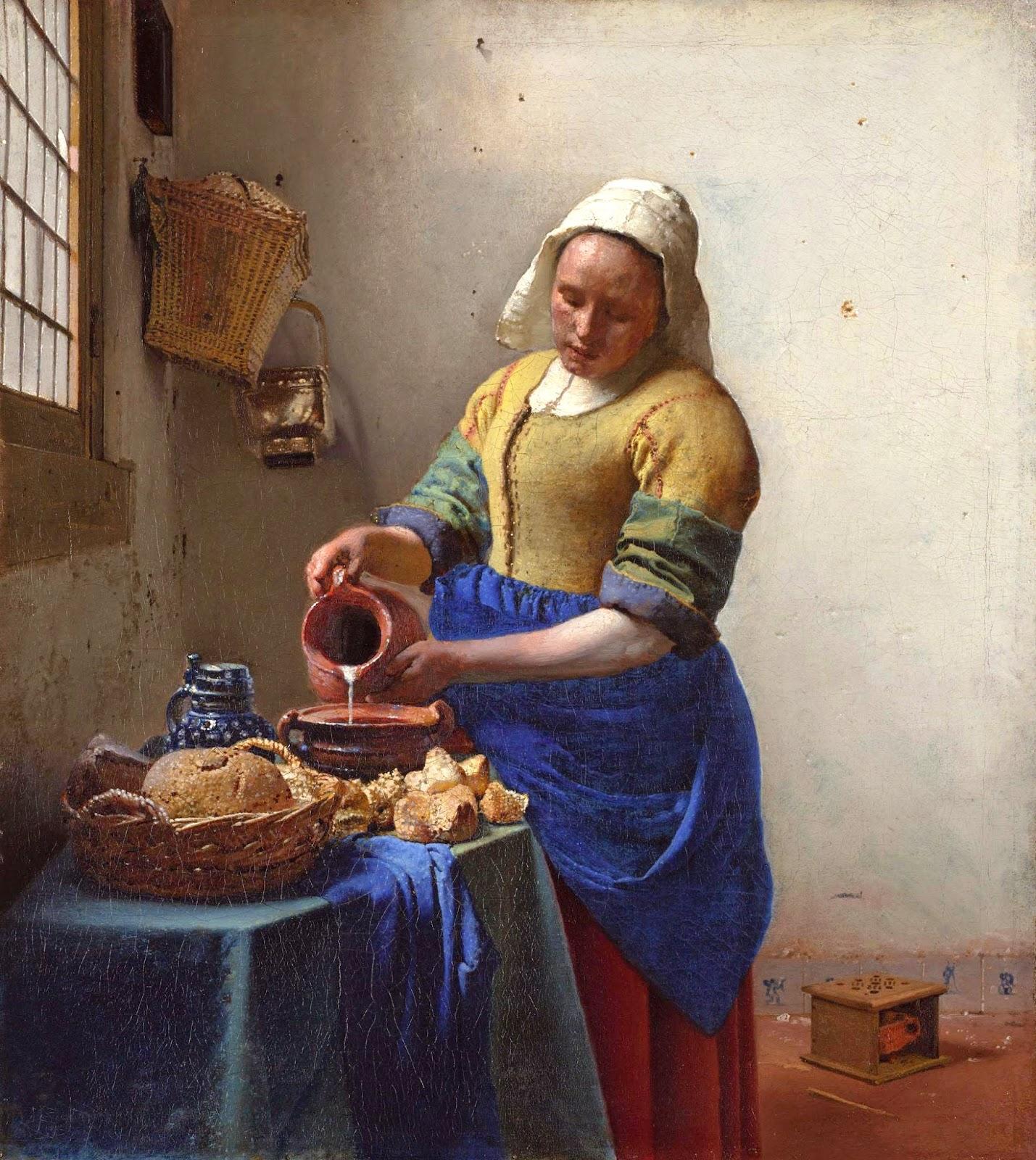 Esencia de arte la lechera - La lechera de vermeer ...