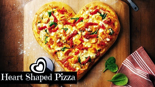 How to Make Heart Shaped Pizza for Valentine's day via geniusknight.blogspot.com Holiday Knight hungry pizza recipes