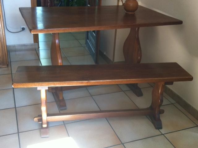 Table et banc cuisine la tendance du bois dans maison notre s lection cuisine meubles usags for Banc pour cuisine