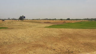 Golf Country, Yamuna Expressway :: Construction Status on July 2014:-Golf course