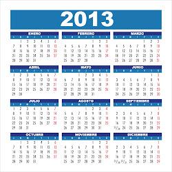 Feriados año 2013