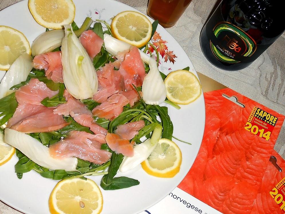 insalata di salmone rucola e finocchi