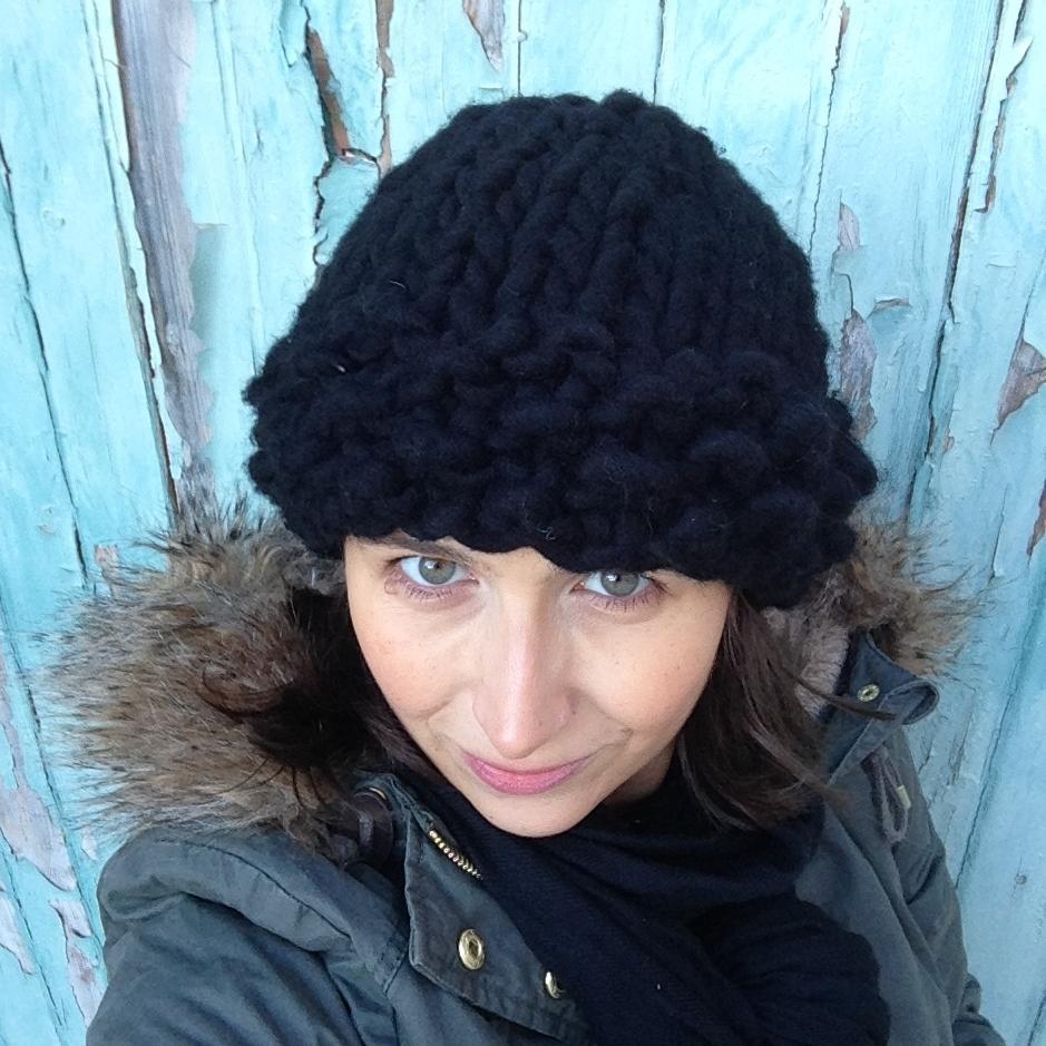 Aufildesenvies mod le gratuit un bonnet facile tricoter en mailles xxl - Modele de bonnet a tricoter facile ...