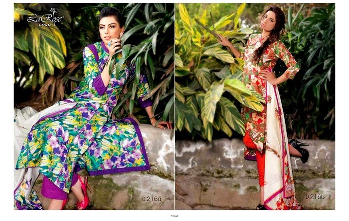 Five Star La Rose Lawn Collection 2014-2015