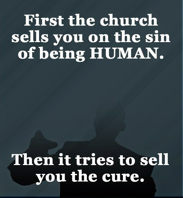 Church Sells Sin Disease And Cure Quote Picture