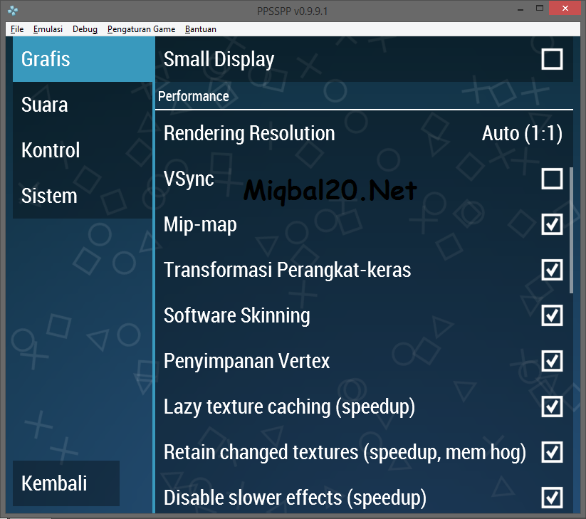 Cara Ampuh Setting PPSSPP di low PC - Miqbal20 - Berbagi