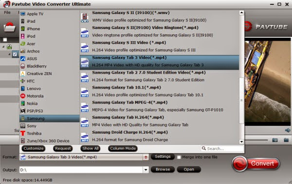 compatible format of Galaxy Tab Pro 12.2