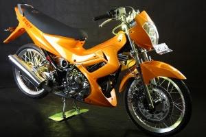 Modifikasi Motor Satria FU Terbaru Satria Fu Modifikasi Warna