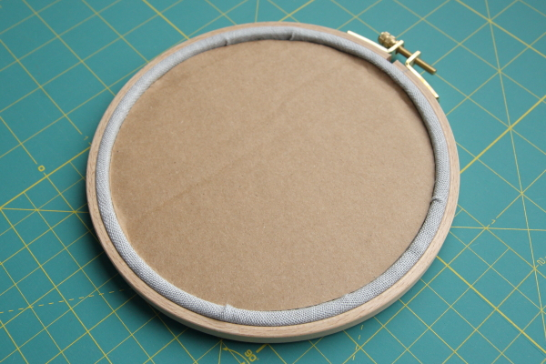 Embroidery Hoop Framing Tutorial by homestitchness