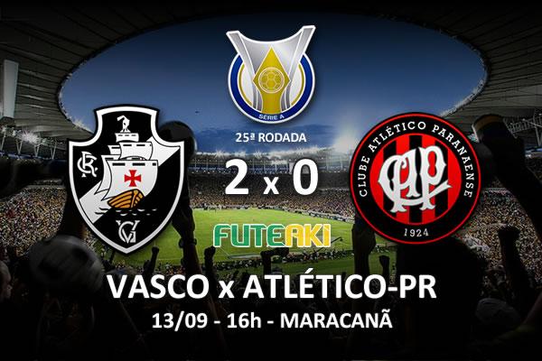 Veja o resumo da partida com os gols e os melhores momentos de Vasco 2x0 Atlético-PR pela 25ª rodada do Brasileirão 2015.