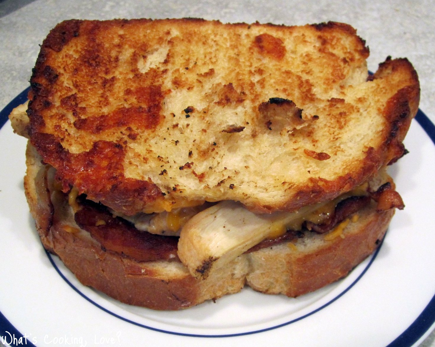 Chicken Bacon Ranch Grilled Cheese Sandwich - Whats Cooking Love?