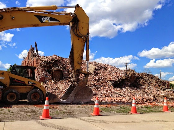 Demolished Fleet Specialty Warehouse Detroit