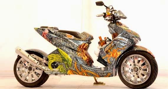 Modifikasi Yamaha Mio Sporty Dengan Airbrush