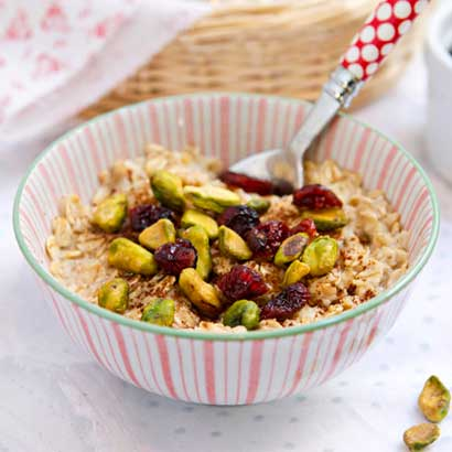 oatmeal, nuts and dried fruits