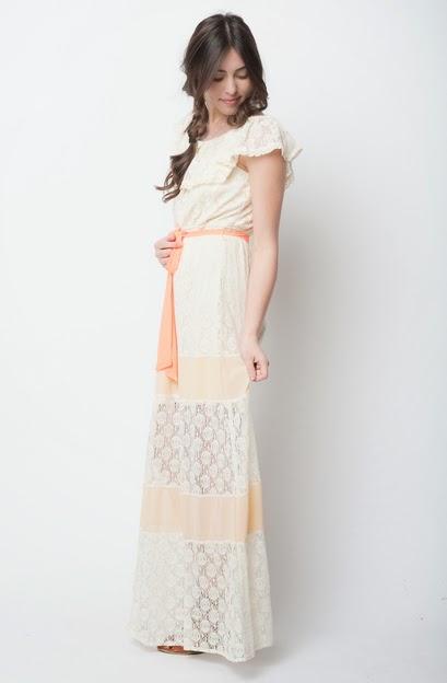 Cap sleeve maxi dresses