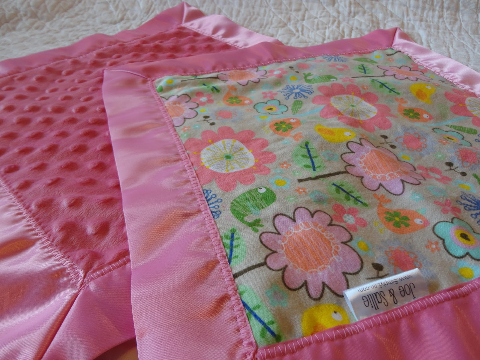 Simply Erin: Baby Security Blankets with Satin Binding