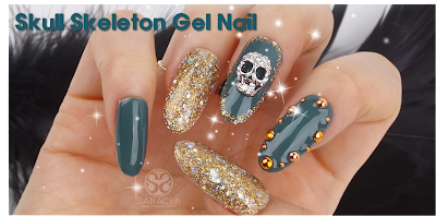 Skull skeleton Gel Nail