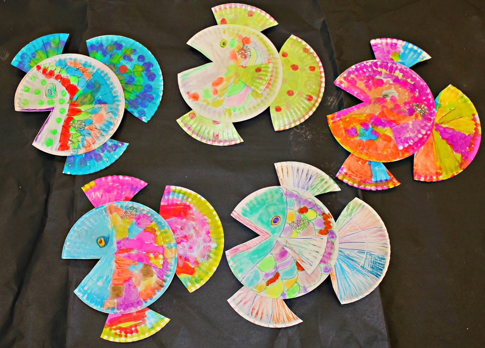 K/1 Created these wonderful fish with two paper plates paint sticks and lots of smiles!  sc 1 st  Art at Stone-Robinson Elementary - Blogger : paper plate art - pezcame.com