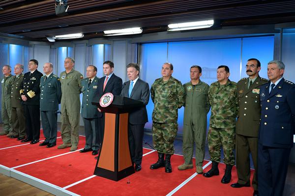 Nueva cúpula de las Fuerzas Militares y de Policía