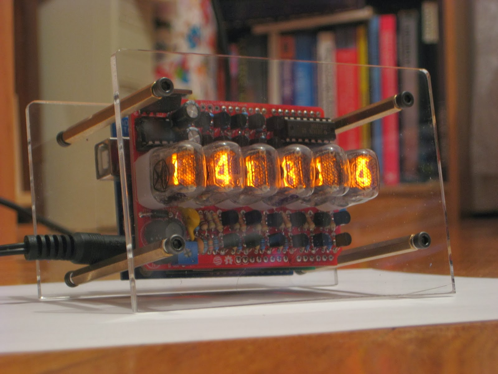 Posts With Nixie Label Circuit Schematic Tube Clock Kit Calculator One Thing I Skipped Because Dont Like The Combination Is Blue Or Any Other Color For That Matter Leds Under Tubes