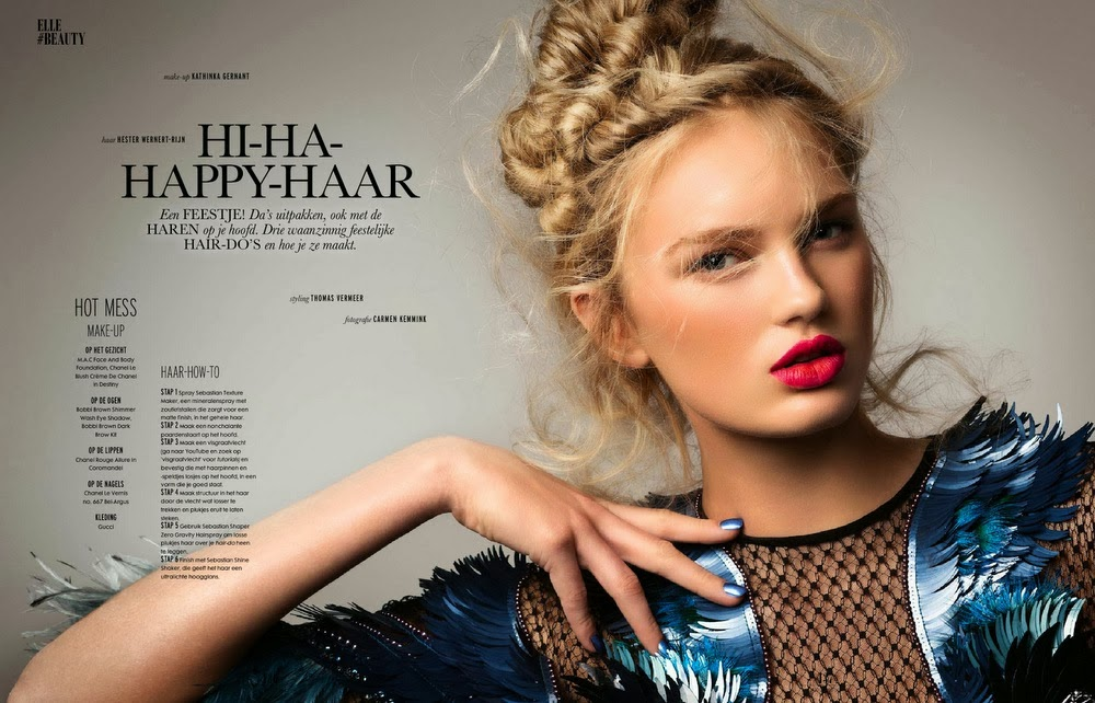 Magazine Photoshoot : Romee Strijd Photoshot by Carmen Kemmink for Elle Magazine Netherlands January 2014 Issue