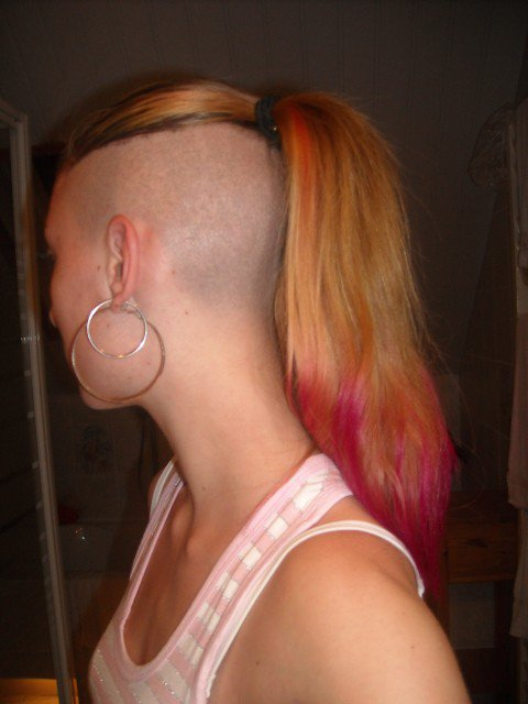 HD wallpapers undercut hairstyle ponytail