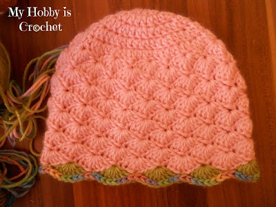 My Hobby Is Crochet: Shell Stitch Earflap Hat with Flower ...