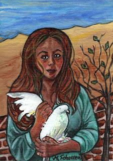 Acrylbild v. Magdalena Schotten - Sehnsucht nach Frieden
