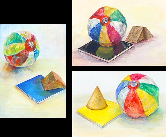 横浜美術学院の中学生教室 美術クラブ 完成した作品