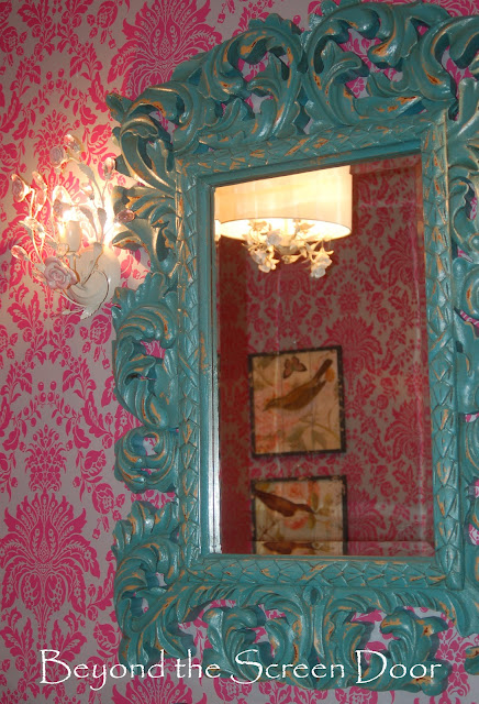 Turquoise pink silver bathroom sonya hamilton designs for Turquoise and pink bathroom