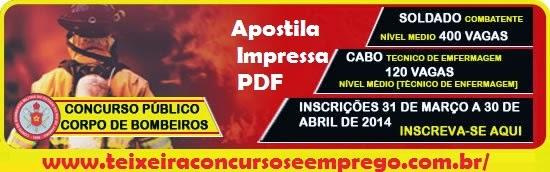 Apostila Corpo de Bombeiros Militar do Estado do Rio de Janeiro - CBMERJ
